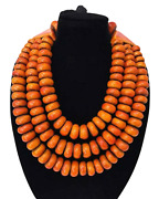 Moroccan Amber Resin Necklaces Handmade African Jewelry Tribal Berber Beads