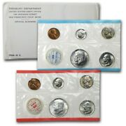 1964 Us United States Mint Birth Year Ogp Uncirculated Coin Set