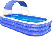 Swimming Pool For Kids And Adults Family Kiddie Blow Up Swim Pools With Canopy