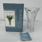 Marquis By Waterford Crystal Glass Vase 10 Made In Germany Fan Tall With Box