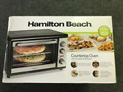 Hamilton Beach Convection Oven With Rotisserie Countertop For Family Meals New