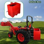 Ballast Box 3 Point Category 1 Tractor 2 Inch Hitch Attachment Heavy-duty Lift