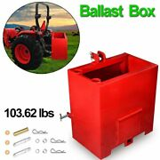 Ballast Box For 3 Point Category 1 Tractor Loader Duty Steel Ballast Box Lift