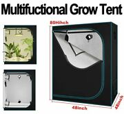 4and039x4and039x6.5and039and039 Grow Tent Room Reflective Mylar Hydro Nontoxic Indoor Plant Box