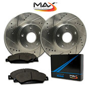 [front] Max Brakes Premium Xds Rotors With Carbon Metallic Pads Ta117631-1