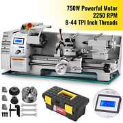 Brushless Motor Metal Mini Lathe Woodworking Tool 750w Variable Speed Cutter