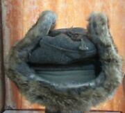 Nazi German Army Rabbit Fur Hat Real Culture Military Equipment Collection1417ak