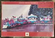 Working Dillard's Trimmings Animated Christmas Train Set G Scale By New Bright