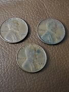 Lot Of 3 Wheat Back Pennies 1950 D 1952 D 1951 S