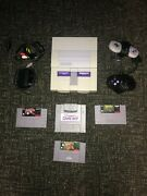 Super Nintendo Snes Bundle Authentic And Tested -- 3 Games, 2 Controllers, Etc.