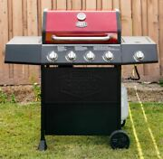 Propane Gas Grill Expert Grill 4 Burner Stainless Steel With Side Burner Bbq