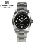 San Martin 36mm Sn0021g Retro Automatic Men Watches Stainless Steel Diving Watch