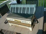 Antique Hohner Accordion With Blue Flowers Free Shipping