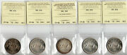 Canada 1963 Silver Dollar Lot Of 5 Coins Iccs Certified Ms-63