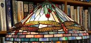 Antique Studios Reproduction Dragonfly Leaded Glass Lamp Shade Handel