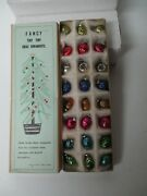 Awesome Set Of 24 Vintage Glass Christmas Feather Tree Ornaments In Orig Box 2