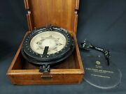 Wwii Us Navy Mark I Lionel 7.5 Illuminated Compass W/ Bearing Circle And Star Map