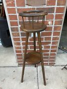 Antique Handmade Solid Wood Plant Stand