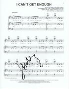 J Balvin Signed Autograph I Can't Get Enough Sheet Music - W/ Selena Gomez