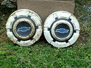 Vtg 1950and039s Chevrolet Pickup Truck Hubcapsgood Man Cave Or Garage Wall Hangers