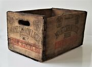 Antique Mount Carbon Brewery Lager Pottsville Pa Wood Beer Crate Phone No 297