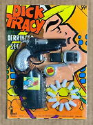 Larami Dick Tracy Derringer Set Toy Gun Bullets Holster Whistle Mib Unpunched