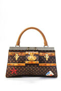 Louis Vuitton Crown Frame Tote Limited Edition Time Trunk Monogram Canvas Brown