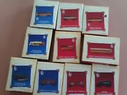 Lot Of 10 Hallmark Keepsake Ornaments Lionel Trains 2003 And 2004 And 2005