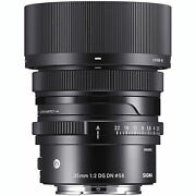 Sigma 35mm F2 Contemporary Dg Dn Lens For L-mount Full Frame Mirrorless Cameras