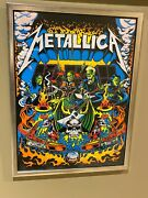 Metallica - Original Pinball Print The Old One Blacklight Signed Dirty Donny