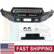 Offroad Front Bumper Guard With Led Lights Winch Plate For 09-14 Ford F150