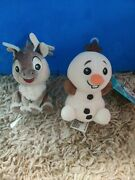Disney Frozen Wishables Sven And Olaf Plush No Packaging Rare Htf
