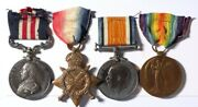 Great Britain 1914-18 Military Medal And Trio To Royal Field Artillery.