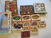 Huge Lot Over 150 Vintage Glass Christmas Ornaments Indents Minis Green Gold Red