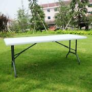 Folding Table Portable Plastic Indoor Outdoor Bbq Picnic Home Camp Tables Us