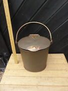 Large Victorian Milk Can / 11 In. Tall Dairy Milk Can / Steel And Brass Cream Pot