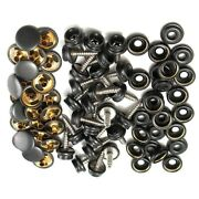 15mm Black Snap Fastener Button Screw Studs For Boat Cover Copper Stainless Part