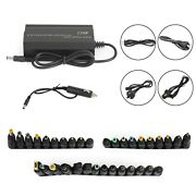 Universal 120w Car 34 Tips Power Supply Adapter Charger For Laptop Notebook Ua