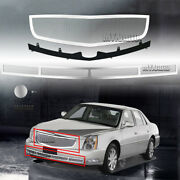 Fit 2006-2011 Cadillac Dts Stainless Steel Polish Wire Mesh Grille Grill Ss