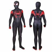 Unisex Lycra Spandex Halloween New Into The Spider Verse Miles Morales 3d Xl