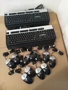 Lot 10 Hp Usb Wired Layout Keyboard Model Ku-0316/sk-2885, With 10 Hp Mouse
