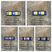 Facebook Action Campaign Ribbons- Full Stack Pvc Patches