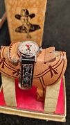 1950s Hopalong Cassidy Wrist Watch All Original Working In Saddle Box Nos