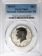 2019 S Apollo 11 Kennedy 50andcent Enhanced Reverse Proof Pcgs Pr69 Low Mintage