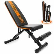 Weight Bench, Adjustable Weight Bench Strength Training Benches Folding With Leg
