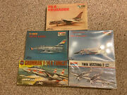 Lot Of 5 1/72 Model Plane Kits 3 Minicraft 1 Monogram And 1 Air Fix. Brand New