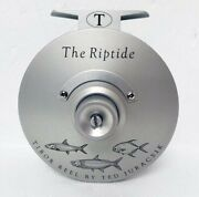 New Tibor Riptide Frost Silver With Grand Slam Engraving 9-11 Fly Fishing Reel