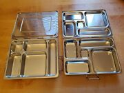 Lot 2 Planet Lunch Rover And All-n-one Lunch Pottery Barn Compartment Lunch Boxes