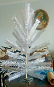 Vintage Ussr Artificial Christmas Tree. Aluminum Color 41in Very Rare. Box New