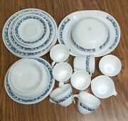 Vintage Corelle Dinnerware Old Town Blue Onion Complete 4 Place Setting + 40 Pc